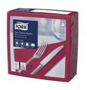 Tork Soft Dinnerservietten Rot 1/4-Falz Advanced | 477599